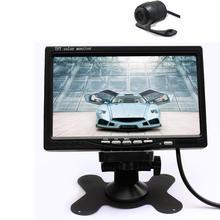 Discount! 120-Deg Night Vision Waterproof Rear-view for parking Camera + 7″ Car Rear View Camera TFT LCD Digital Color Screen car Monitor