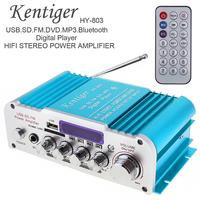 Universal DC12V AC220V AC110V 2CH HI FI Bluetooth Car Audio Amplifier FM Radio Player Support SD