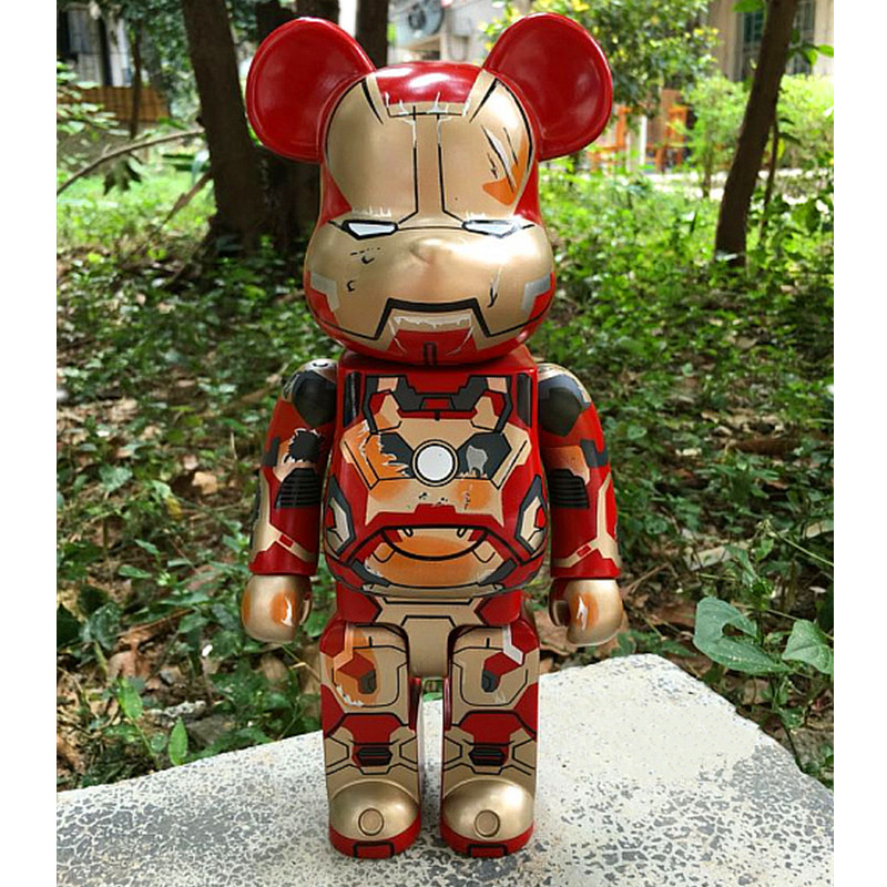 Avengers:Infinity War Tony Stark Iron Man OriginalFake Be@rBrick MEDICOM BFF Gloomy Model Toy 400% 11 Inches S226 hot selling oversize 1000% bearbrick luxury lady ch be rbrick medicom toy 52cm zy503
