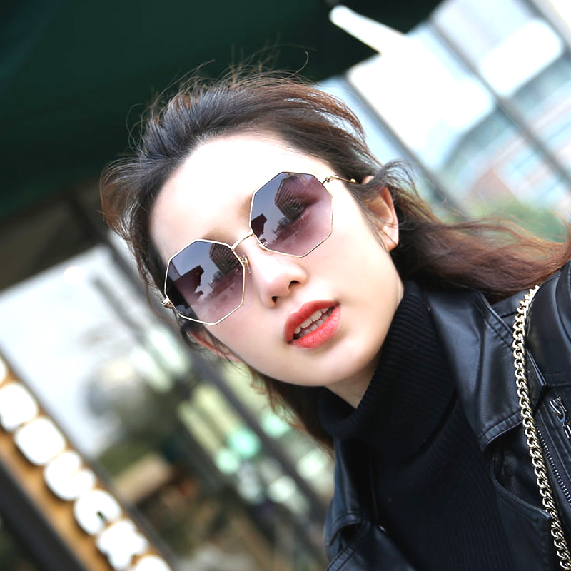 UV400 Unisex 80s 90s Metal Visor Octagon Sunglasses Vintage Men Shades Fashion Sunglasses Brand Woman 2018