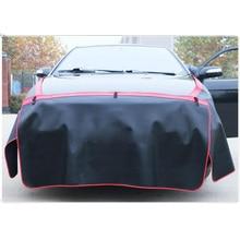 Chiziyo 3 pçs preto pára choque carro cobre proteger pintura magnética asa capa fender capô pintura ferramenta de reparo automóvel