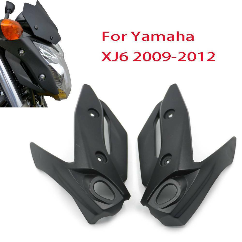 Unpainted Motorcycle Left Right ABS Headlight Head Front Side Fairing For 09-12 Yamaha XJ6 2009 2010 2011 2012