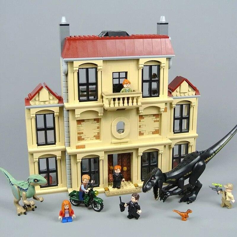 Film Blocs le Monde Jurassique Dinosaure 75930 Indoraptor Saccage à Lockwood Immobilier Legoinglys Blocs de Construction Pour Enfants Jouets