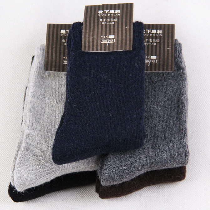 10 piece=5 pairs/lot High Quality Mens Wool Socks Winter Cashmere Socks Winter Thickening Thermal Socks warm solid color ...