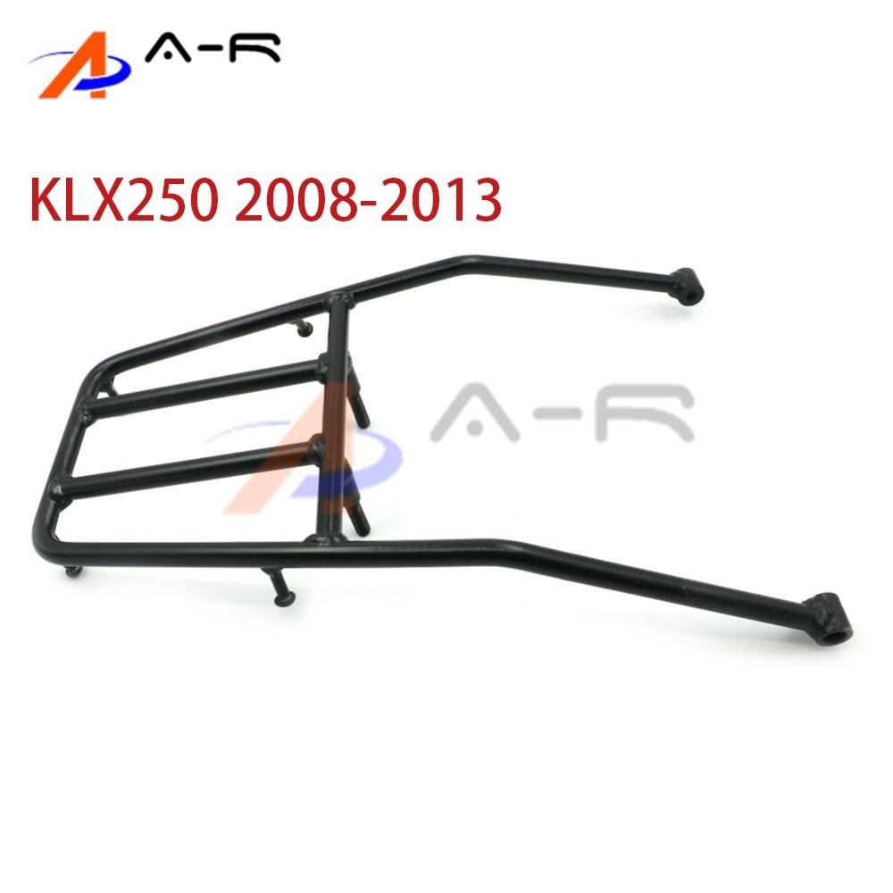 For Kawasaki KLX 250 KLX250 2008 2013 Rear Seat Luggage Carrier Rack Support Holder Saddlebag Cargo