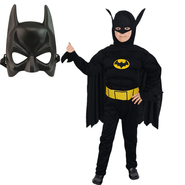 Children's Batman costume muscle suit dress ball Cosplay performance service children's day performance costumes