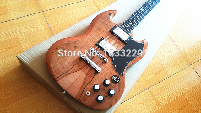 Cheap free shipping SG  400 Custom Shop  Ebony fingerboard electric guitar one piece neck one piece body