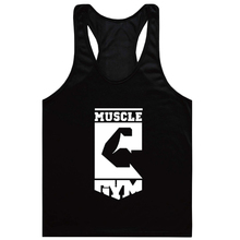 Men bodybuilding clothes brands sleeveless fitness tank t shirt muscle fitness workout tank top fashion vest