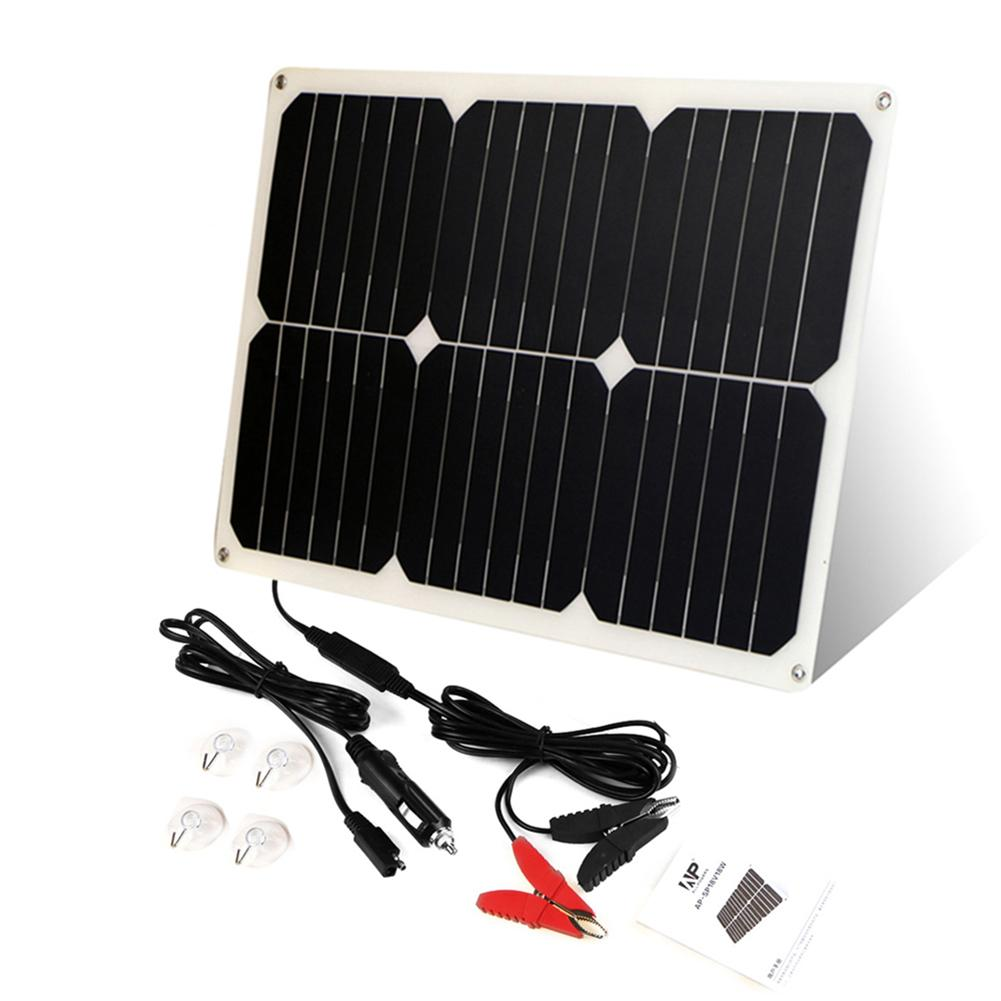Car Solar Battery Maintaner 12V 18W Solar Car Boat Power Panel Charger Maintainer For Automobile Motorcycle Tractor Boat