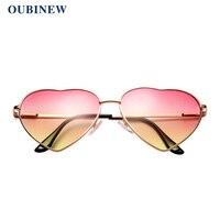 b5b0f12c7bb OUBINEW Women Heart-Shaped Glasses suprem men Korean version of trendy sunglasses  Fashion and practical