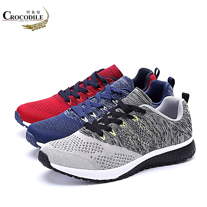 CROCODILE Men Air MESH Sneaker Running Shoes Male Athletic Sport Shoes Cushioning Jogging Skate Shoes for