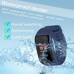 Image 1 - 2019 smart armband fitness tracker Smart armband Wasserdichte Farbe Heart Rate Blutdruck monitor für Android IOS