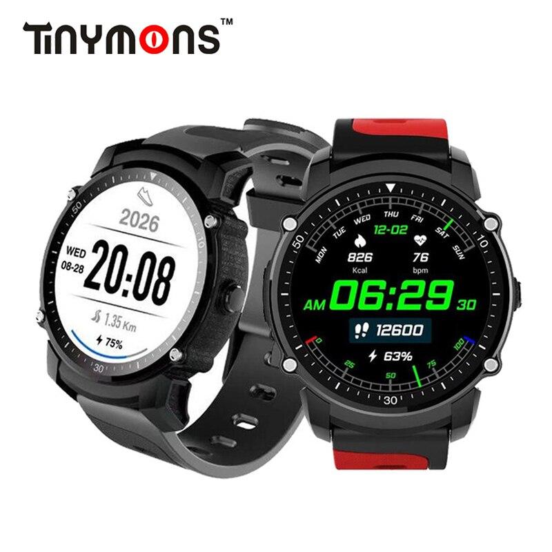 Tinymons FS08 GPS Bluetooth Sport Smart Watch IP68 Waterproof Swim Fitness Tracker Stopwatch Heart Rate Monitor Smartwatch цена