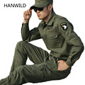 HANWILD Tactical Jacket Set Military Airborne Flight Bomber Jacket Men 2016 Outdoors Combat Suit Windbreaker Army Green Uniform