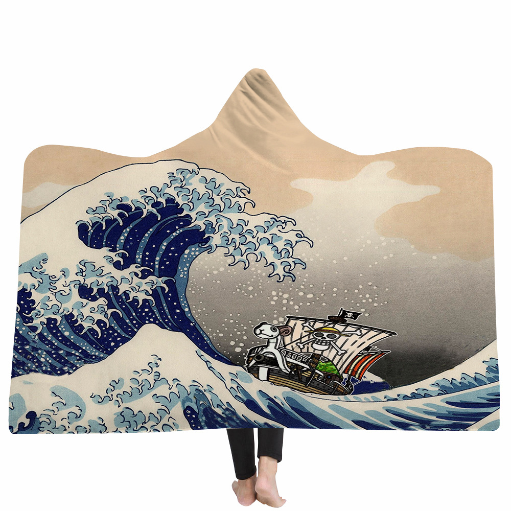 Yoga mat Hooded Blankets Magic Hat Blanket Thick Double-layer Plush 3D Digital Printing Animal Series