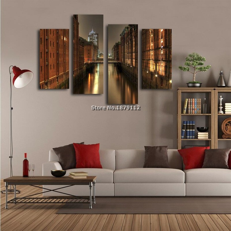 Sale Promotion City Landscape Wall Pictures For Living ...