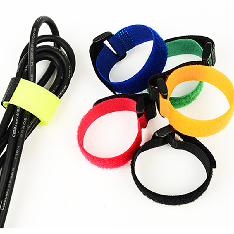 50Pcs 2*18.5cm Magic Tape Sticks cable ties model <font><b>straps</b></font> wire with <font><b>battery</b></font> stick buckle belt bundle tie hook&#038;loop Fastener Tape