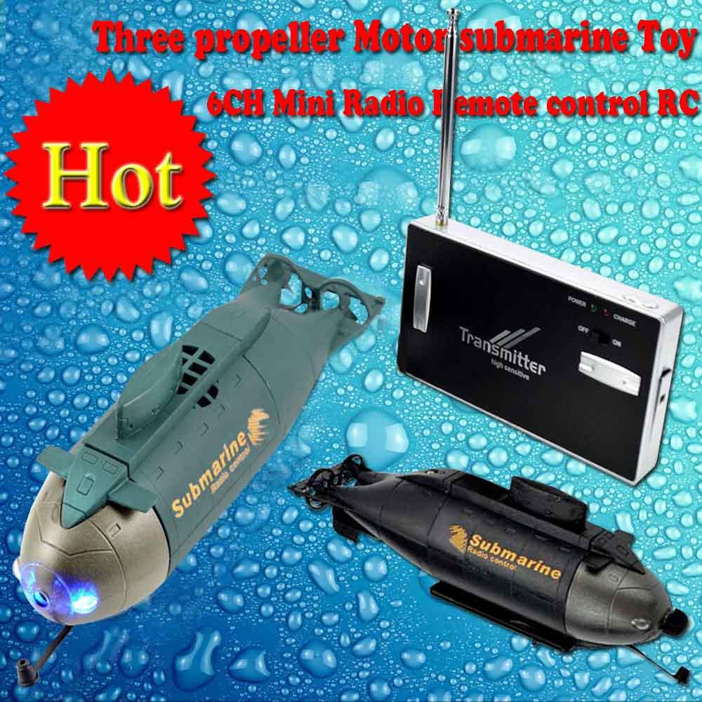 Mini Submarine Radio Remote Control RC RTR Three Propeller Motor 6CH Electric Gift