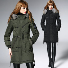 Female Long section winter  Thick warm Down jacket