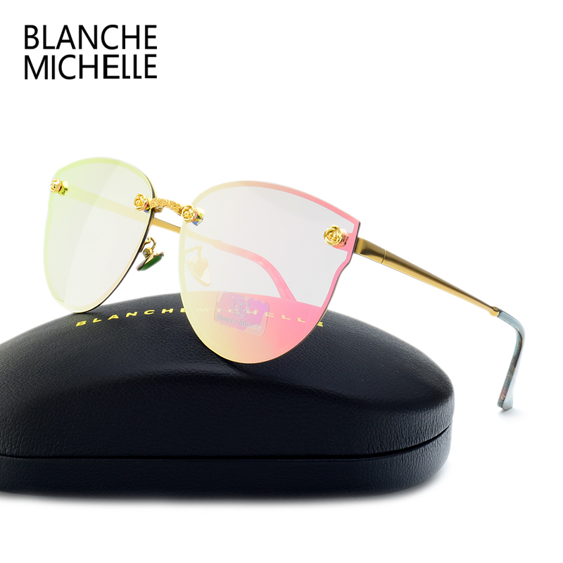 2019 New Fashion Cat Eye Polarized Solglasögon UV400 Brand Designer Solglasögon Mirror okulary gafas de sol mujer With Box