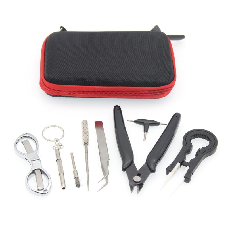 E-XY Elektronische Zigarette DIY Tool Kit Spule jig Pinzette Zangen für RDA RDTA RTA E Cig Zubehör Vape Tasche Coiling kit