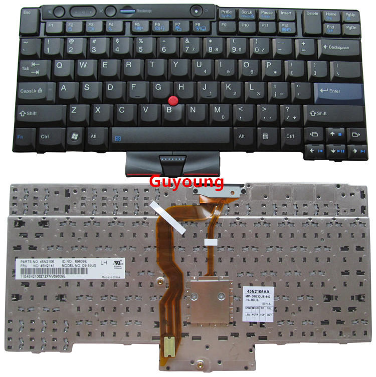 Laptop US English Keyboard For IBM For Lenovo ThinkPad T410 T420 T510 T520 W510 W520 X220