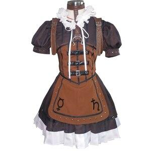 Женский маскарадный костюм Brdwn Alice Madness Returns, платье-фартук, юбка в стиле Лолиты, Meidofuku