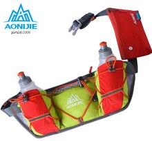 AONIJIE New Men Women Waist Pack Outdoor Sports Cycling Fanny Pack Travel Marathon Running Belt 2 *250ml Water Bottle Bag