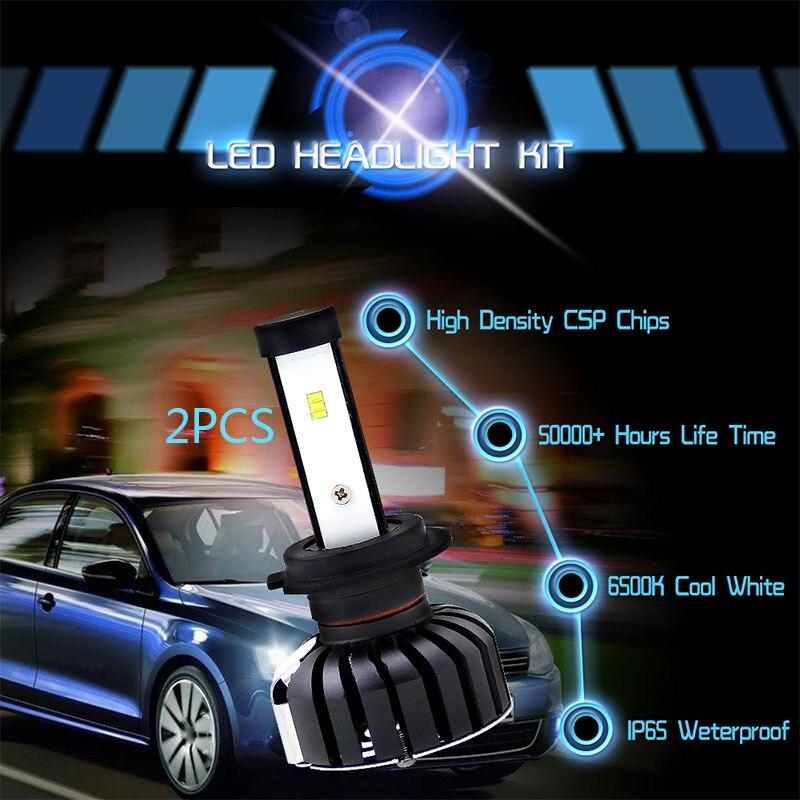 H7 2 шт. передняя лампа светодиодный противотуманный фонарь автомобильные аксессуары безопасное освещение в сборе Мощный светодиодный фара для автостайлинга лампочки