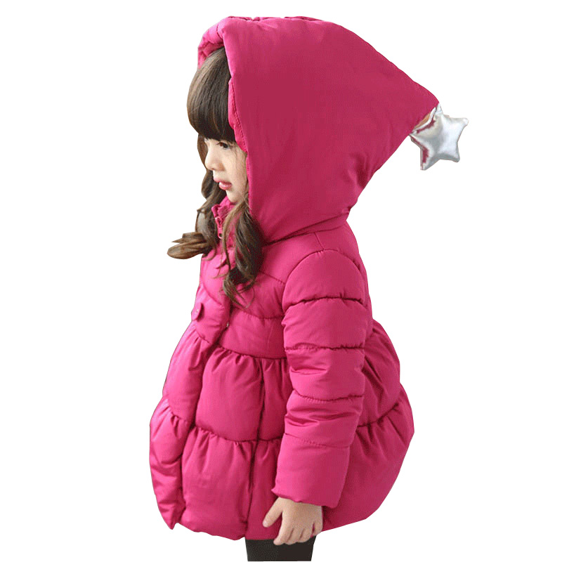 2017 New Kids Winter Jacket For Girl Thick Warm Hooded Children Outwear Coat Fashion Baby Girls Parka Jackets 2-7Y DQ615 immdos children coat for girl winter wool outerwear kids long sleeve hooded warm baby clothing girls solid fashion jacket