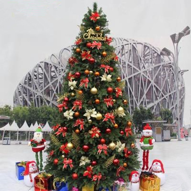 30 m 40 m upscale luxury encryption decoration christmas tree christmas indoor outdoor christmas arrangement - Indoor Decorative Christmas Trees