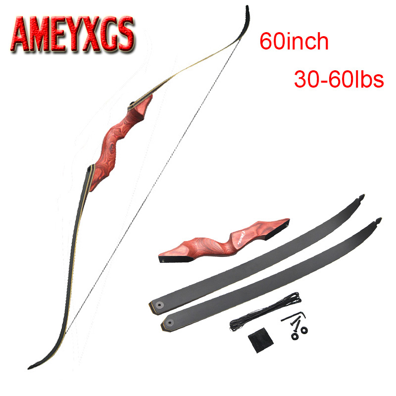 60 Inch Archery Takedown Weight 30-60lbs Recurve Bow Draw Right Hand Composite Bow Handle Hunting Shooting Accessories60 Inch Archery Takedown Weight 30-60lbs Recurve Bow Draw Right Hand Composite Bow Handle Hunting Shooting Accessories