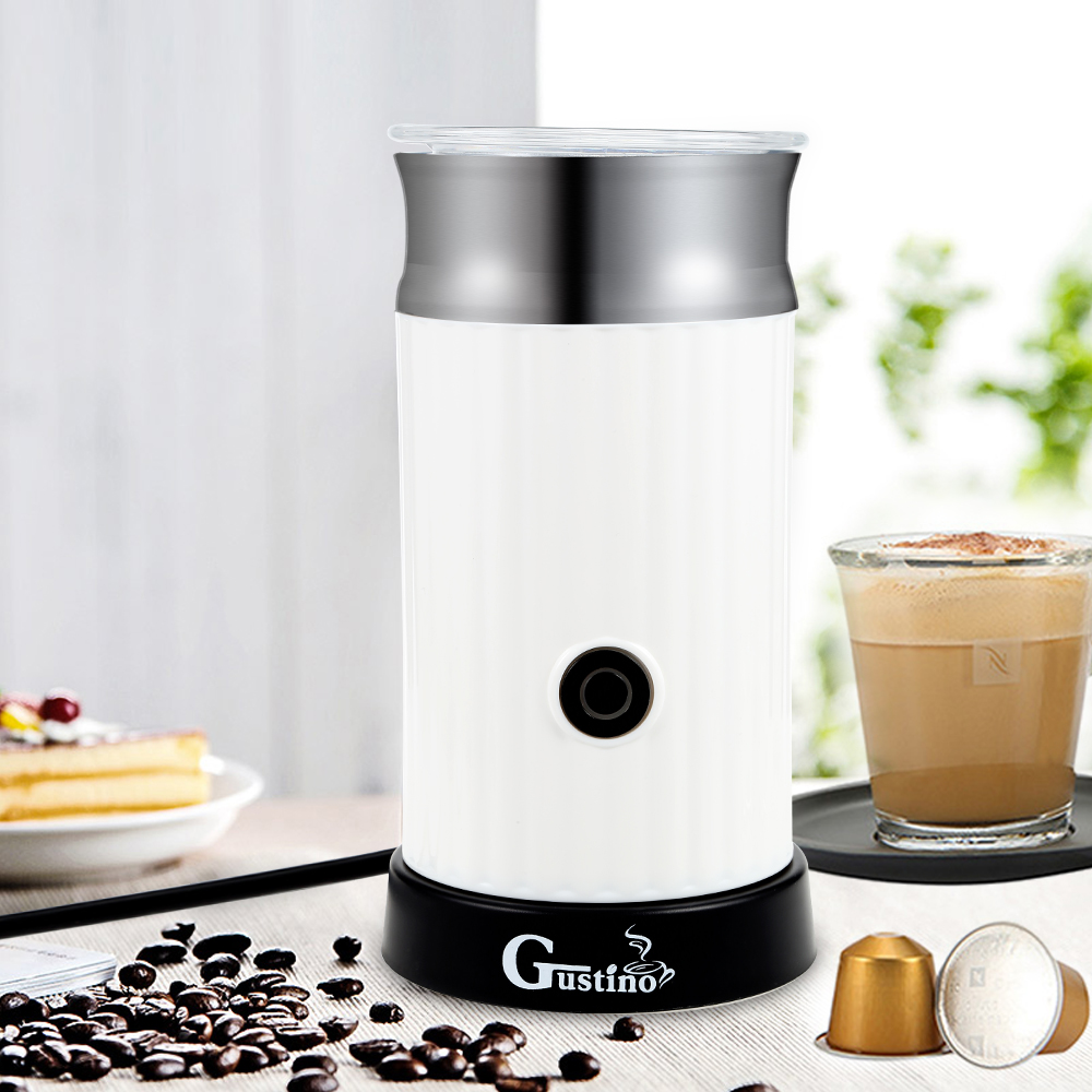 Gustino Automatic Cappuccino Coffee Maker Electric Milk Bubble Machine Milk Frother Foamer Cup Heat Latte Hot Foam Maker Warmer electric milk frother capuccino coffee maker autoamtic milk frother maker coffee maker foaming maker machine factory store