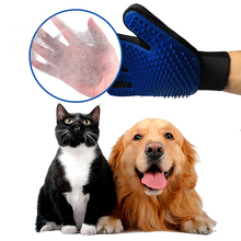 Silicone Dog brush Pet Grooming Glove Deshedding Comb for Dogs Cats Left/Right Hand Hair Removal Brush For Animals Pets Supplies