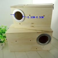 Most free Shipping Wood Cage Bird Parrot Houses pigeon baby Nest Breeding Box Lovebirds Supplies Animal Products Suppliers