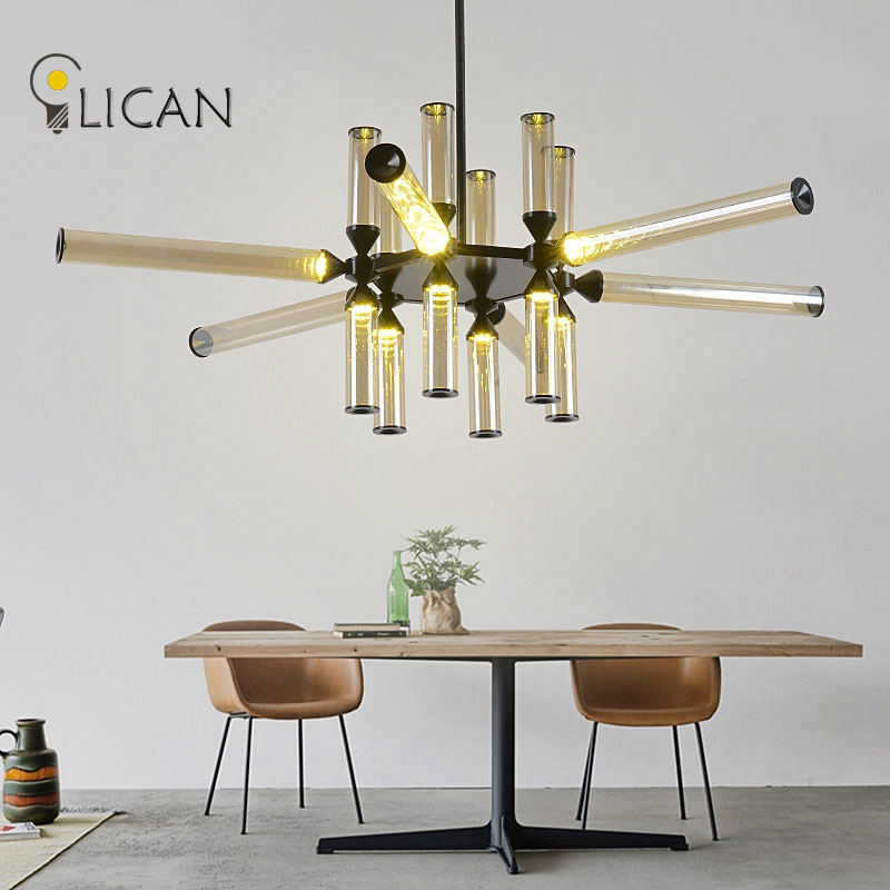 LICAN Lights Nordic creative Castle Chandeliers Lights for Dining room Living room Glass chandeliers lamp vintage chandeliers