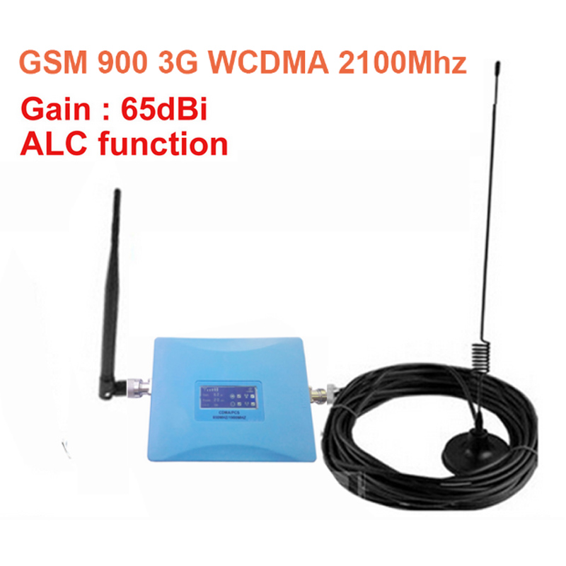 ALC 65 Dbi W/ Antenna Dual Band Booster GSM900Mhz Booster+3G WCDMA 2100Mhz Repeater Dual Band Repeater Gsm 3G Gsm Wcdma Repeater