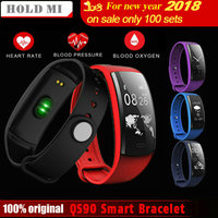 Hold Mi QS90 Blood Pressure Smart Bracelet Heart Rate Monitor Blood Oxygen Monitor Fitness Tracker for Andriod IOS VS QS80