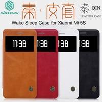 For Xiaomi Mi 5S Case Original Nillkin Luxury Qin Leather Flip View Window Sleep Wake Smart