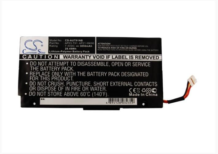 Cameron Sino 3850mAh Battery For ASUS Eee PC MK90H T91  S101 Tablet 07G031001300 AP21-MK90 AP23-T91