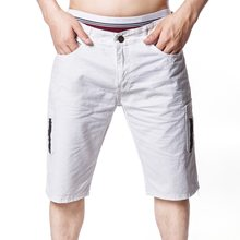 c5a8f94e6bc9 LEDINGSEN 2018 Новые Дизайнерские летние шорты белые Для мужчин Slim Fit  хлопок желтые шорты прямые шорты мужские короткие брюки