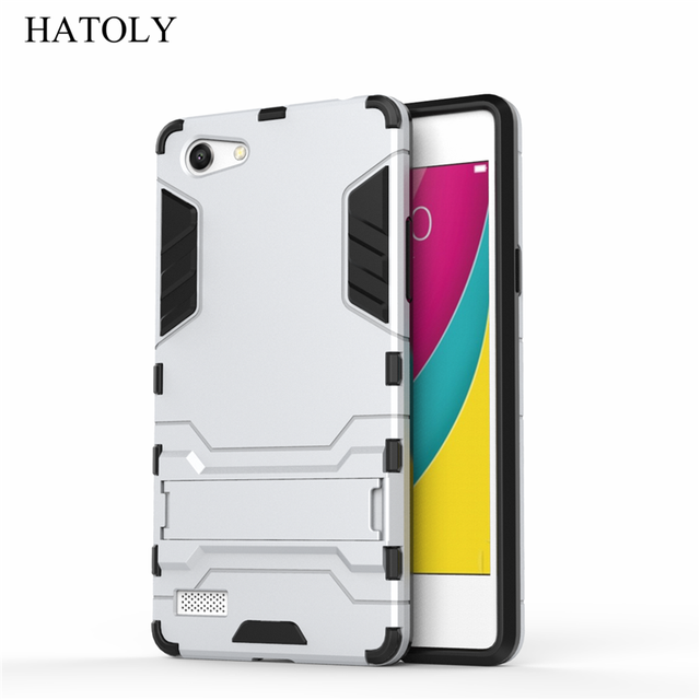 """HATOLY For Armor Case OPPO A33 Case A33M A33W Robot Hybrid Silicon Rubber Hard Back Phone Case Cover For OPPO Neo 7 A33 5.0"""""""