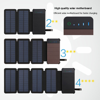 20000mAh solar power bank folding Waterproof Solar Charger External Battery Backup Pack For cell phone Tablets iphonex 8