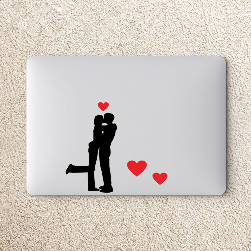Creative Lovers Kiss Heart Computer Laptop Refrigerator Cup Switch Stickers Home Decor Living Room Wall Decals Vinyl Wallpaper