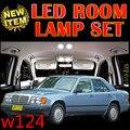 Erro Free Car LED Veículo de chita 6 X frete grátis Kit Luzes Interior Mapa Dome Porta Pacote para mercedes w124 acessórios