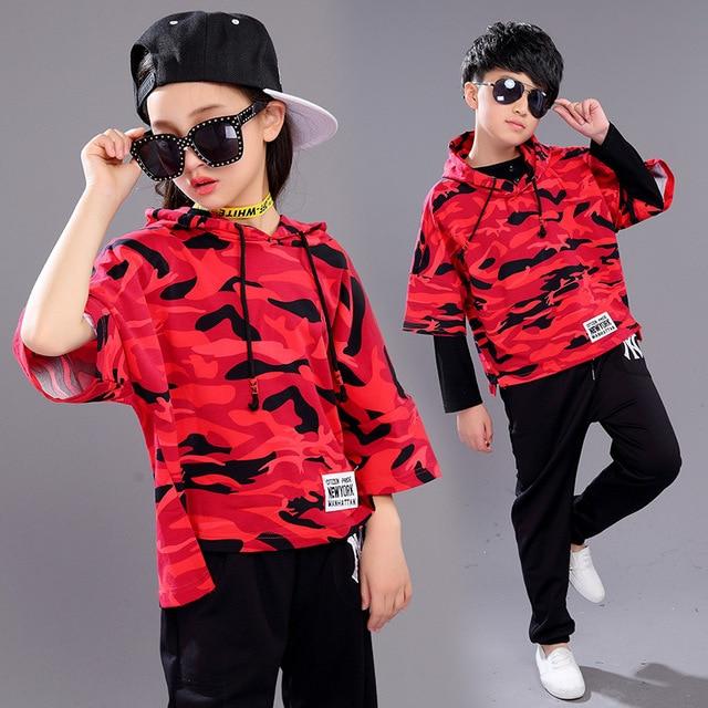 476f08450046c Nuevo Diseño Niños Ropa infantil Chicos Chicas Street Dance Hip Hop Danza  Jazz Danza Trajes del