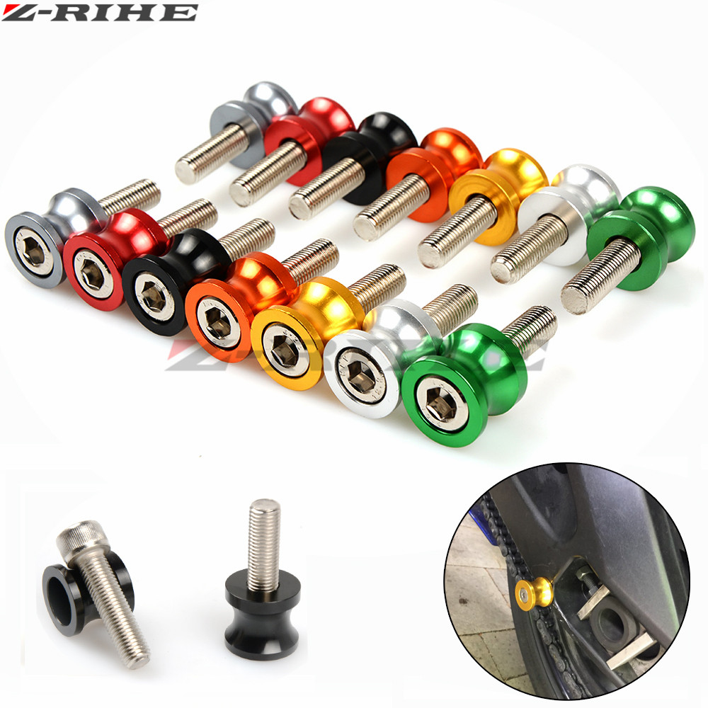 CNC Aluminum Motorcycle parts Swingarm Sliders Spools for Kawasaki ZX6R ZX7R ZX10R ZX14R NINJA650R ER6N Z750 Z800 Z1000 yamaha rearview mirrors common for yamaha mt09 07 zx6r zx7r zx10r zx14r ninja650r er6n cnc mirror motorcycle scooter accessories