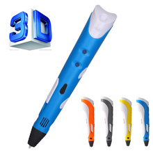 Moda 1.75mm ABS/PLA DIY Inteligente 3D Pluma Impresión 3D Fabricante De La Pluma + 9 M Filamento + Adaptador Regalo creativo Para Los Niños de Dibujo Diseño