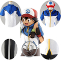 Pokemon Ash Ketchum Trainer Costume Cosplay Jacket +pant+hatfull +Gloves