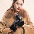 Сексуальные женщины новый высокий класс мода осень зима теплый пояс линия золотой мяч норки пояс сетки прекрасный корейский перчатки рукавицы